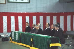 洞南会 三年生入会式3