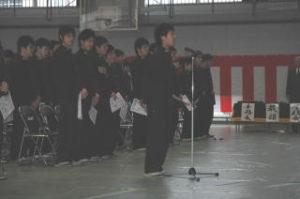 洞南会 三年生入会式6