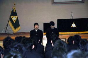 洞南会 三年生入会式5